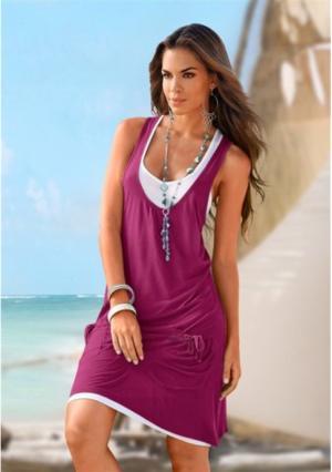 Пляжное платье BEACH TIME. Цвет: дымчато-синий, хаки, черный, ягодный
