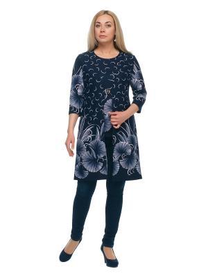 Кардиган + блузка OLSI. Цвет: темно-синий, белый