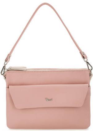 Маленькая кожаная сумка со съемной ручкой Bruno Rossi. Цвет: розовый