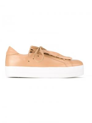 Fringed sneakers Sarah Chofakian. Цвет: телесный