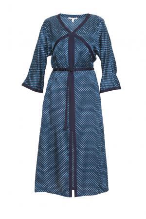 Платье из шелка с вискозой 163220 Anna Verdi. Цвет: синий
