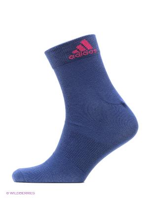 Носки Per Ankle T, 3 пары Adidas. Цвет: синий, розовый, белый