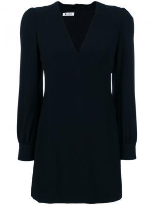 Платье с глубоким V-образным вырезом Dondup. Цвет: чёрный