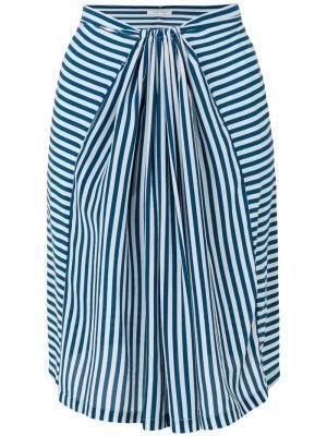 Полосатая юбка Humanoid. Цвет: синий