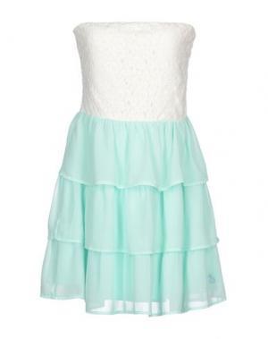Короткое платье DUCK FARM. Цвет: бирюзовый