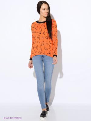 Свитшот Colambetta. Цвет: оранжевый, черный