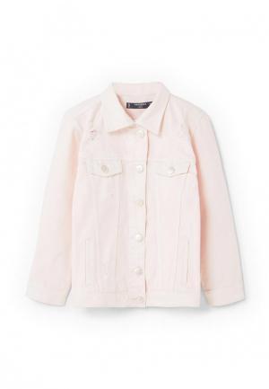 Куртка джинсовая Mango Kids. Цвет: розовый