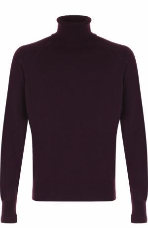 Кашемировый свитер с воротником-стойкой Tom Ford. Цвет: бордовый