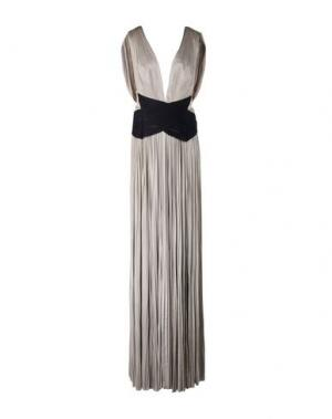 Длинное платье MARIA LUCIA HOHAN. Цвет: песочный