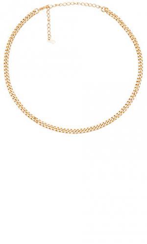 Ожерелье small curb joolz by Martha Calvo. Цвет: металлический золотой