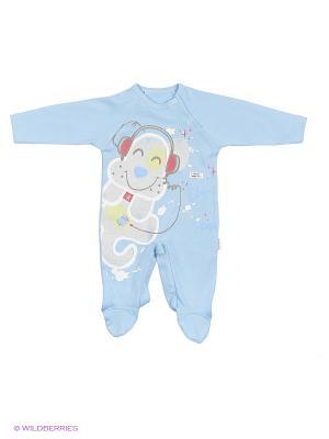 Комбинезон для малышей WO&GO. Цвет: голубой