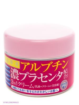 Крем для лица с арбутином и плацентой Roland. Цвет: розовый