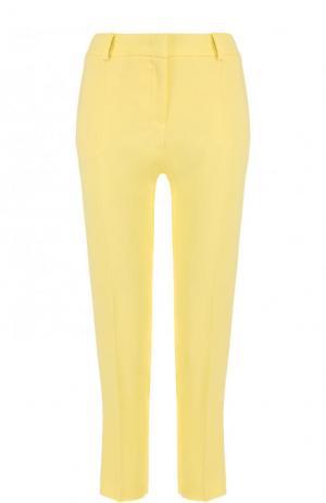 Однотонные укороченные брюки со стрелками Emilio Pucci. Цвет: желтый