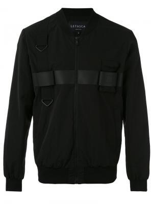 Классическая куртка-бомбер Letasca. Цвет: чёрный