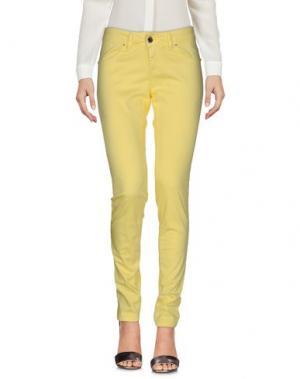 Повседневные брюки FLY GIRL. Цвет: желтый