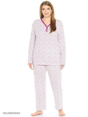 Пижама женская lawiggi. Цвет: сиреневый