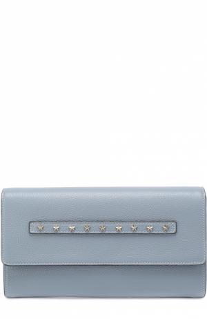 Клатч с металлическими заклепками REDVALENTINO. Цвет: голубой