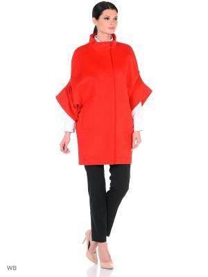Пальто Anora. Цвет: красный