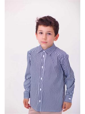 Рубашка ETE CHILDREN. Цвет: антрацитовый, белый