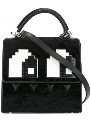 Мини сумка на плечо Alex Eyes Les Petits Joueurs. Цвет: чёрный