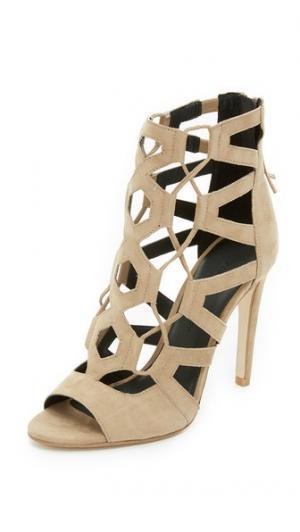 Босоножки на шнуровке Roxie Rebecca Minkoff. Цвет: серо-коричневый