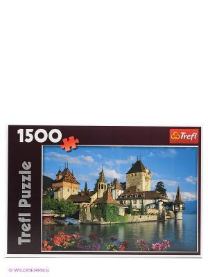 Пазл  Замок Оберхофен, Швейцария Trefl. Цвет: голубой