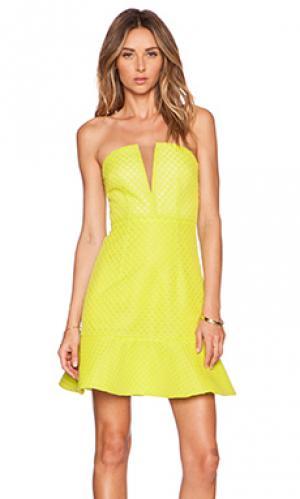 Платье с бюстье visual language Lumier. Цвет: желтый