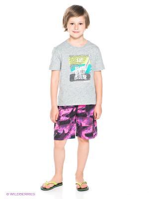 Шорты Teidem. Цвет: фиолетовый, черный