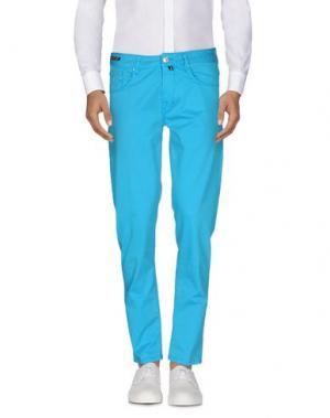 Повседневные брюки PT05. Цвет: лазурный