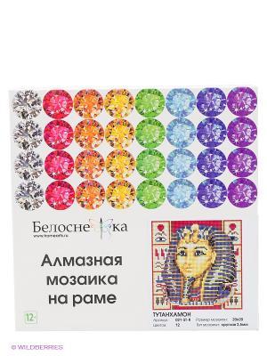 Мозаика на подрамнике. Тутанхамон (021-ST-R) Белоснежка. Цвет: белый