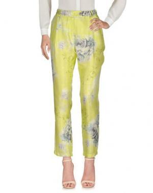 Повседневные брюки ROBERTA SCARPA. Цвет: кислотно-зеленый
