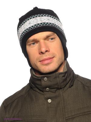 Шапка Viking caps&gloves. Цвет: светло-серый, черный