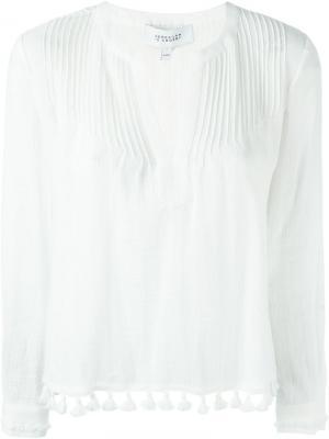 Плиссированная блузка Derek Lam 10 Crosby. Цвет: белый