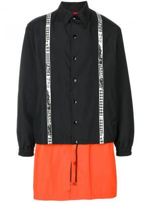 Пальто с панельным дизайном Facetasm. Цвет: чёрный