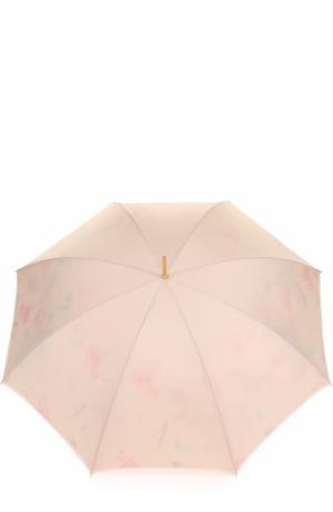Зонт-трость с кристаллами Swarovski на ручке Pasotti Ombrelli. Цвет: кремовый