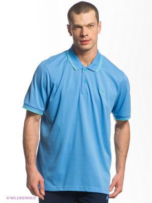 Футболка-поло Adidas. Цвет: голубой