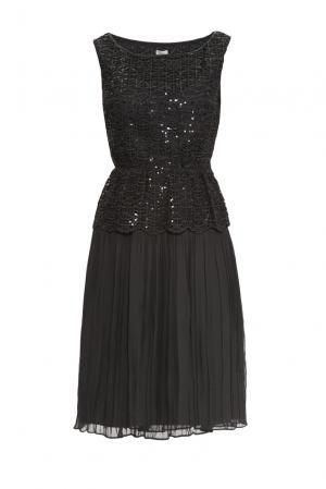 Платье из искусственного шелка VES.2528.605 Hoss Intropia. Цвет: черный
