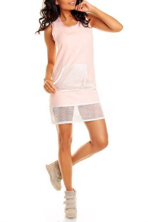 Платье NOMMO. Цвет: розовый