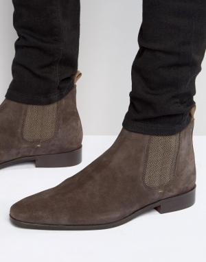 KG Kurt Geiger Замшевые ботинки челси Baxter. Цвет: коричневый
