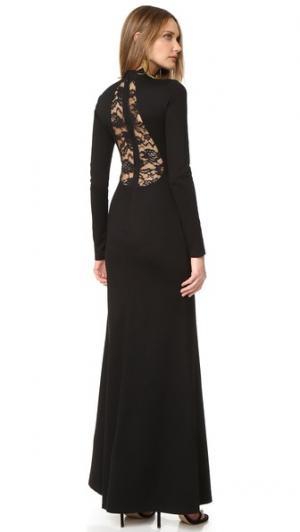 Платье Rosamund с каплевидным вырезом сзади alice + olivia. Цвет: голубой