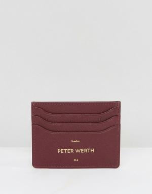 Peter Werth Бордовая кредитница. Цвет: красный