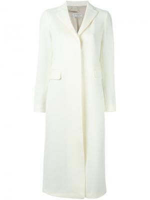 Однобортное пальто Alberto Biani. Цвет: белый