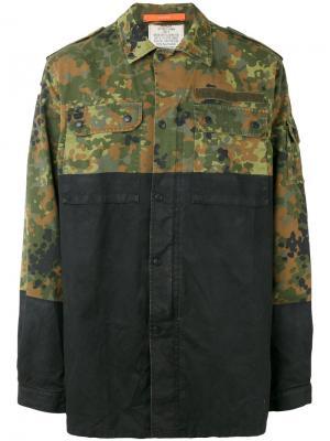 Куртка с камуфляжными панелями Komakino. Цвет: многоцветный
