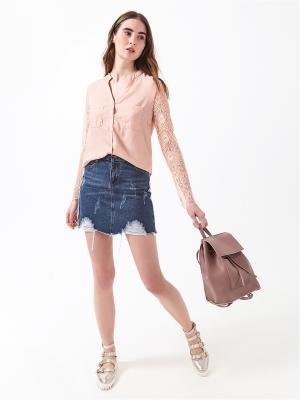 Блузка DARBOURSTORE. Цвет: персиковый