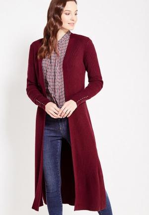 Кардиган Conso Wear. Цвет: бордовый