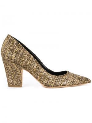 Туфли с заостренным носком Rupert Sanderson. Цвет: металлический