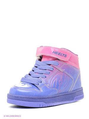 Роликовые кроссовки Heelys. Цвет: розовый, фиолетовый