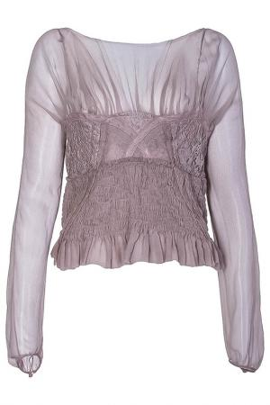 Блуза Nina Ricci. Цвет: бежевый