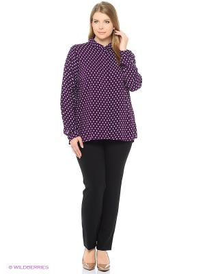 Блузка Modis. Цвет: фиолетовый, белый