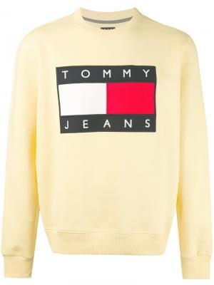 Толстовка с нашивкой логотипа Tommy Jeans. Цвет: жёлтый и оранжевый